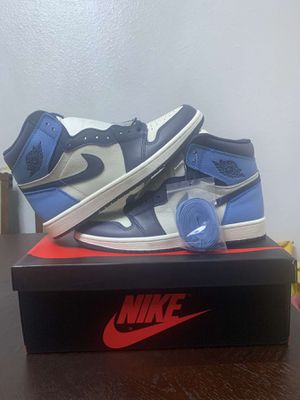 """JORDAN 1 """"Obsidians UNC"""" DEAD STOCK,BRAND NEW SIZE 9.5 OG ALL for Sale in Compton, CA"""