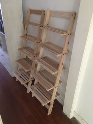 2 Matching Ladder Wooden 5 Tier Bookshelves. for Sale in Los Angeles, CA