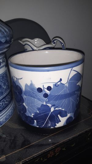 Blue and white ceramic vase for Sale in Springfield, OH