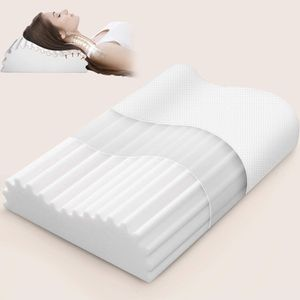 Memory Foam Pillow for Side Sleeper, Cervical Contour Pillow for Neck Pain, Orthopedic Neck Support Pillow Chiropractic Ergonomic Pillow Sleeping with for Sale in Frederick, MD
