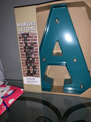 Light up letters A and J new in box never used for Sale in Surprise, AZ