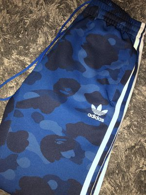 Adidas X Bape track pants Size Small for Sale in Orlando, FL