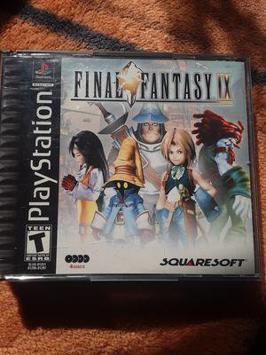 Ps1 final fantasy 9 complete 4 discs great shape square kingdom hearts for Sale in Modesto, CA