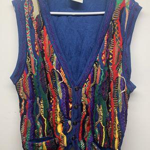 COOGI Blue Cotton Cardigan X Large Mercerized Cotton Amazing for Sale in Tyrone, GA