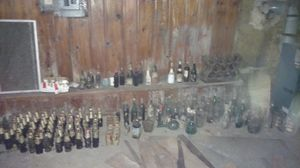 Old wine beer bottles glasses antiques collectibles in 19018 for Sale in Springfield, PA