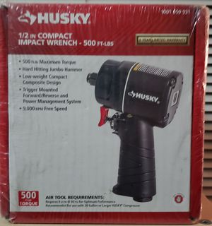 Husky 1/2in Compact Impact Wrench 500ft.lbs for Sale in Hillcrest Heights, MD