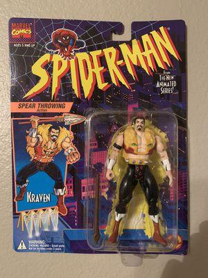 Marvel Spider-Man Animated Series (1995) Kraven Toy Biz Figure NIP for Sale in Stockton, CA