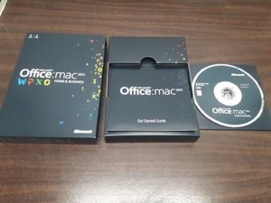 Microsoft Office for Mac Home &Business 2011 2PCS for Sale in Los Angeles, CA