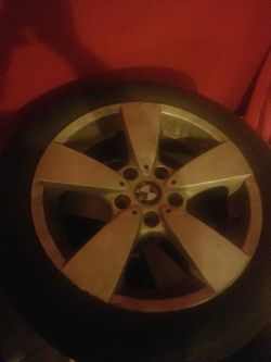 2 BMW factory rims with tires 2006 530XI for Sale in Newark,  NJ