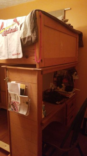 Bunk bed and desk for Sale in Bethel Park, PA