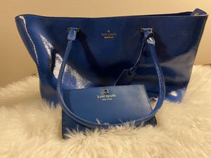 Kate Spade - Beautiful Royal Blue Shoulder Bag with Wallet - for Sale in Auburn, WA