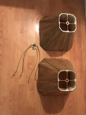 2 gold new in plastic wrapping lamp shades for Sale in Los Angeles, CA