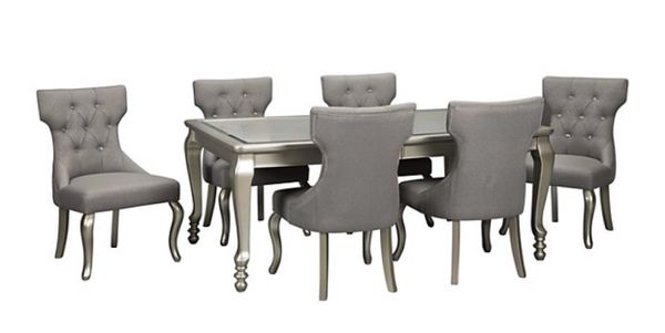 Ashley Coralayne Dining Table w/Removeable Leaf and 6 chairs