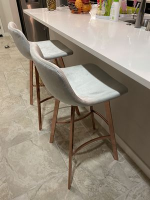 Set of 2 modern stools like cb2 crate barrel overstock for Sale in Escondido, CA