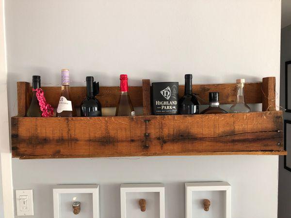 Handmade wine, liquor, decorative rack