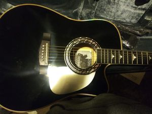 Esteban reflections limited edition acoustic electric guitar. Comes with gig bag, tuner, shoulder strap, and amp cord. for Sale in Kingsport, TN