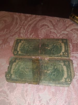 Two dollars bills from Tomas Jefferson from 1976 for Sale in Riverdale, MD
