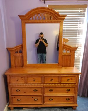 Mirror dresser and Bed Frame( Size Full) for Sale in Manassas Park, VA