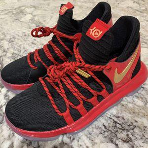 Nike Zoom KD10 LE (GS) Black University Red Metallic Gold for Sale in Arlington, VA