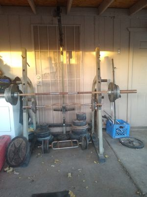 Squat rack,bench press, and many more, weights, obo for Sale in Peoria, AZ