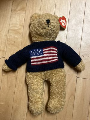 """TY Beanie Baby Buddy """"Curly"""" 1990 American Flag sweater plush retired 18"""" mint for Sale in Lakewood, CA"""