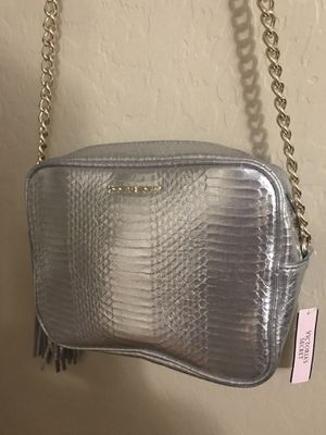 Brand new victoria secret silver bag for Sale in Peoria, AZ
