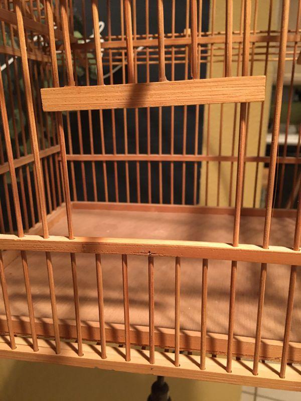 Bird Cage/Bamboo/Vintage Collectible