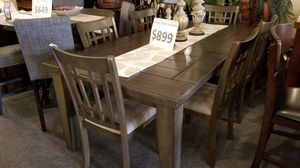 Brand new grey dining table (78×42x30H) + 6 chairs for Sale in San Diego, CA