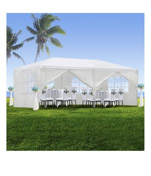 10'x20' Outdoor Canopy Party Wedding Tent White Gazebo Pavilion with6 Side Walls for Sale in Los Alamitos, CA