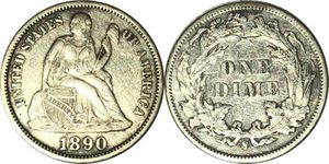 1890 S Seated Dime for Sale in Kirksville, MO