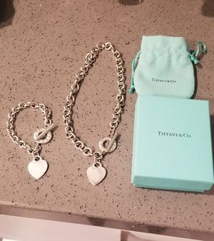 Tiffany & Co. heart tag toggle necklace & bracelet for Sale in Escondido, CA