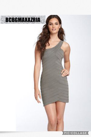 BCBG MAX AZRIA BCBGMAXAZRIA ONE SHOULDER BANDAGE KNIT SEAMED PONTE DRESS for Sale in Downey, CA