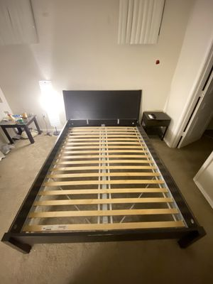IKEA Queen size bed frame with nightstand for Sale in Tempe, AZ