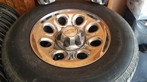 2007 and up rims chevy chrome rims!! for Sale in Columbus, OH