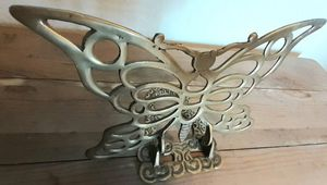 Vintage Solid Brass Butterfly Bookend for Sale in Beaumont, CA