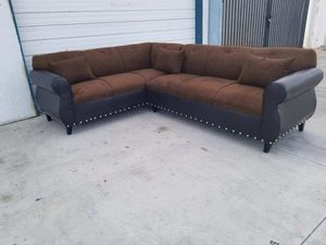 NEW 7X9FT BROWN FABRIC COMBO SECTIONAL COUCHES for Sale in Hemet, CA