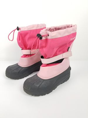 Columbia kids Youth size 6 waterproof rubber snow rain boots with wool lining $32 for Sale in Seattle, WA