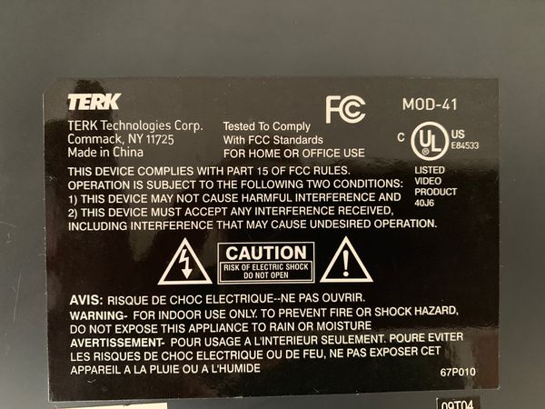 TERK MOD-41 Modulator 4av inputs tv/antenna