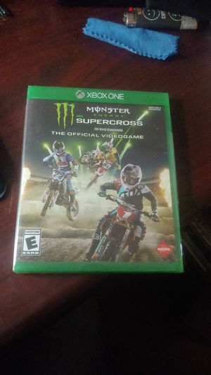 XBOX ONE ENHANCED/ MONSTER ENERGY SUPERCROSS /THE OFFICIAL VIDEOGAME/ NEW, UNOPENED AND IN ORIGINAL PACKAGING for Sale in Mesa, AZ