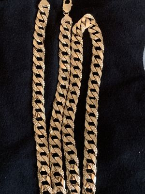 14k solid real gold chain for Sale in Downey, CA