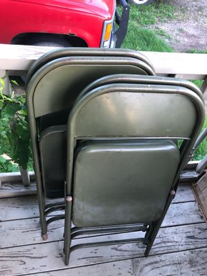 4 metal chairs for Sale in Varna, IL