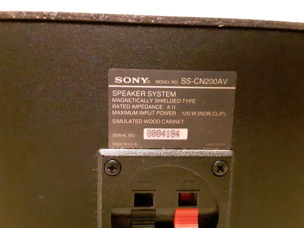 Speaker, center for surround. Sony.