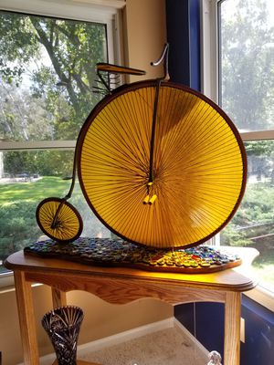 Bicycle Art stained glass and metal - beautiful@! for Sale in Rochester, MI