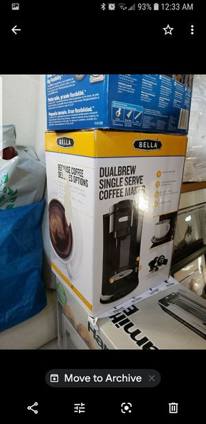 Dual brew single serve coffee maker for Sale in Temecula, CA