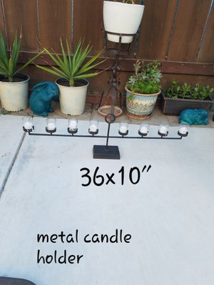 Long iron candle holder.......12.00.....Manteca for Sale in Manteca, CA