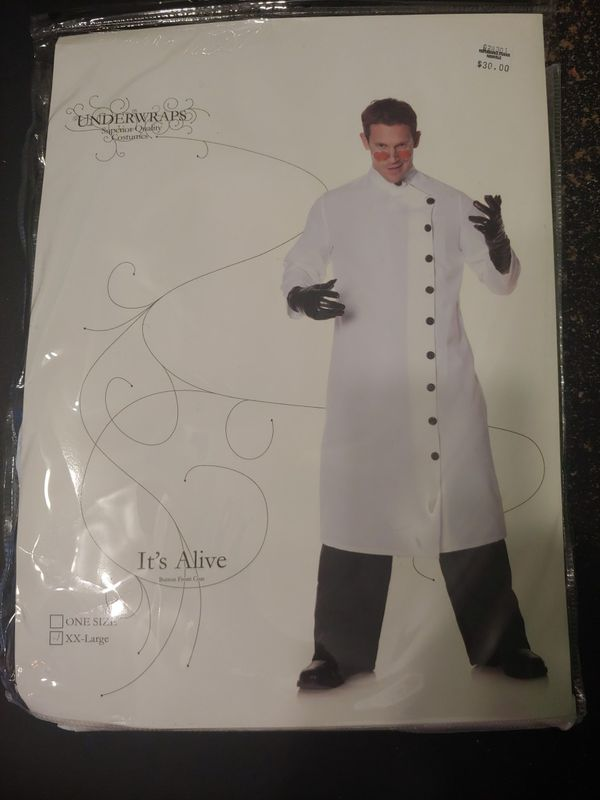 It's Alive mad scientist costume XXL.