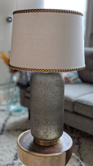 Grey and Brass Lamp for Sale in Chicago, IL