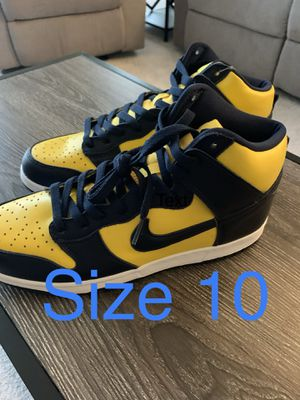 Dunk High Michigan Size 10 for Sale in Laurel, MD