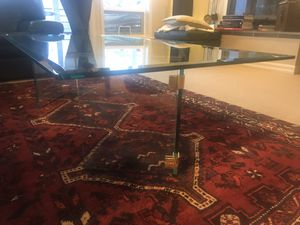 Thick glass coffee table for Sale in Manson, WA