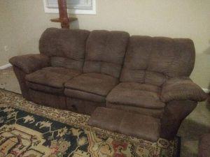 Large microfiber sofa, recliner, & loveseat for Sale in Rockville, MD
